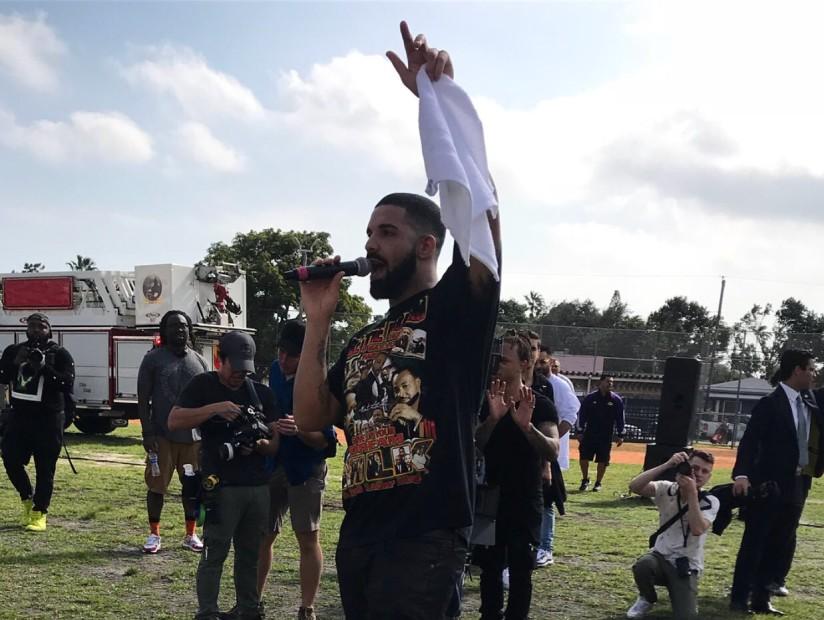 "Drake Films ""God's Plan"" Video At Miami Senior High School"