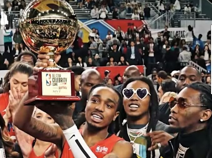 Quavo Awarded MVP Trophy After Killing It During NBA All-Star Celebrity Game