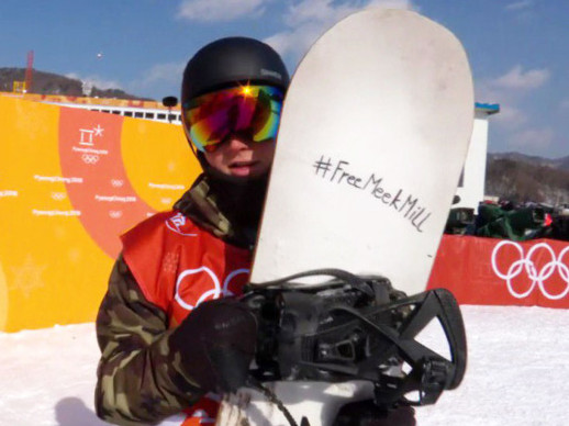 #FreeMeekMill Campaign Gets Support From Winter Olympics Athlete