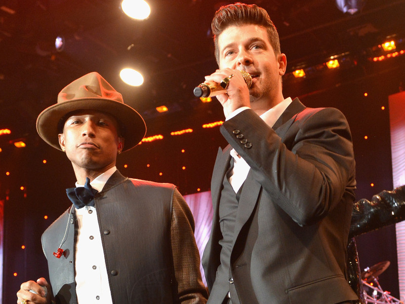 """Got To Give It Up: Pharrell & Robin Thicke Ordered To Pay Marvin Gaye's Family $5M In """"Blurred Lines"""" Suit"""
