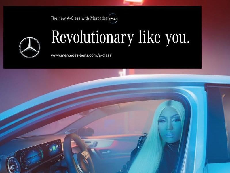 Nicki Minaj Appears On The New Mercedes-Benz Ad