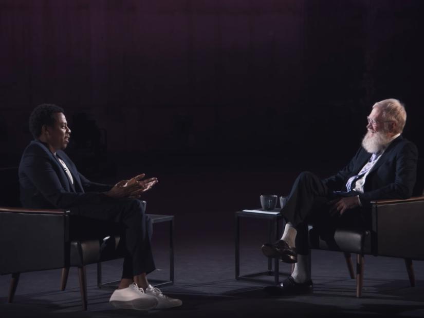 JAY-Z se Explica Lo que Hace Un Buen Rapero En David Letterman de Netflix Mostrar