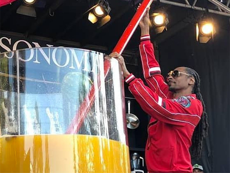 Snoop Dogg Breaks World Record For Largest Gin & Juice Cocktail