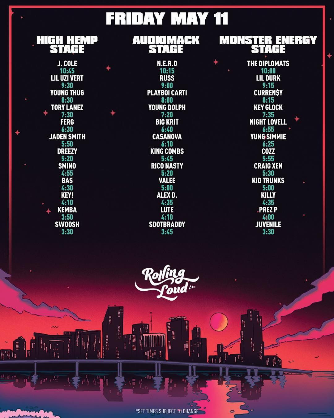 rolling loud 2018 line day 1