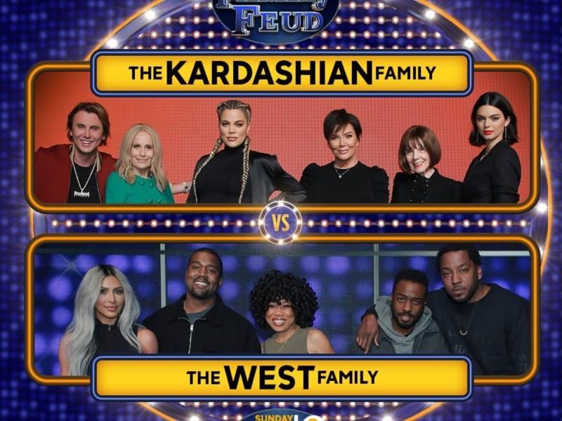 """Watch Kanye West & Kim Kardashian Play """"Family Feud"""""""