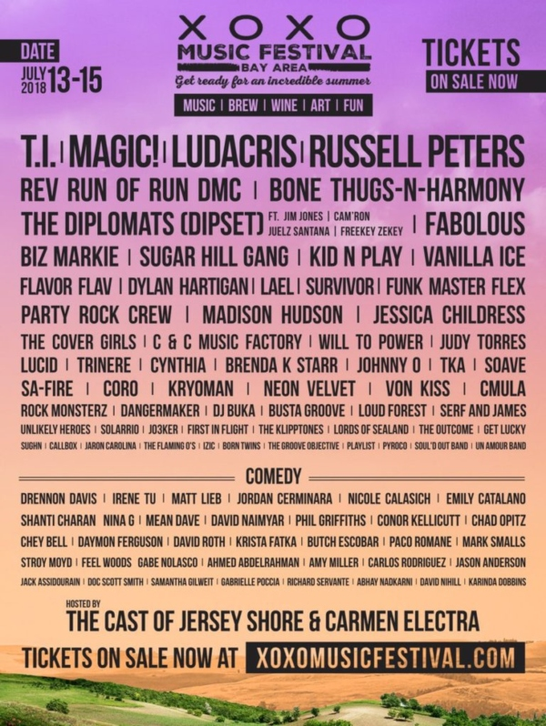 xo festival lineup