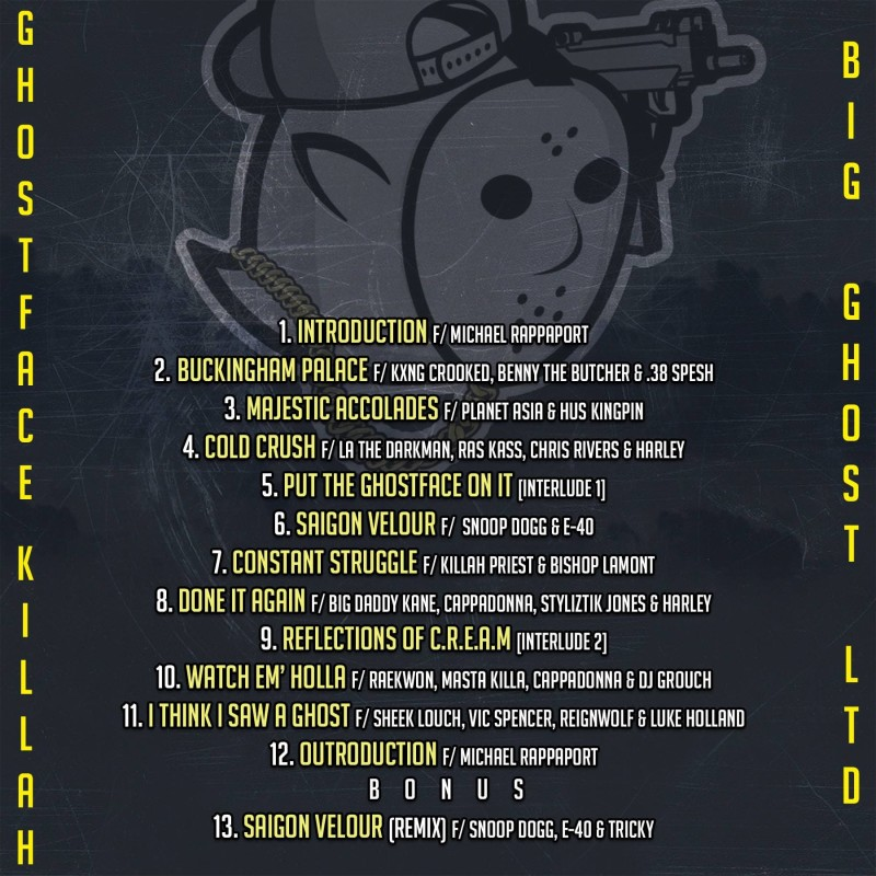 """M-Eighty Reveals Ghostface Killah's """"The Lost Tapes"""" Stacked Tracklist & Release Date"""