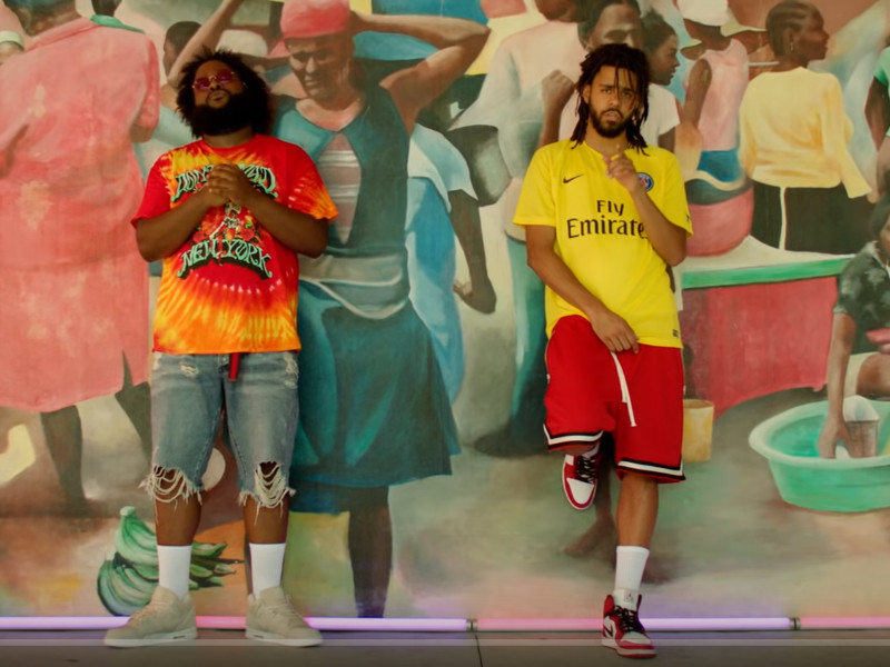 "Bas & J. Cole Hit Up Miami Little Haiti ""Tribe"" Video"
