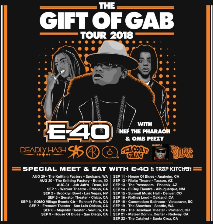 e-40 gift of gab tour