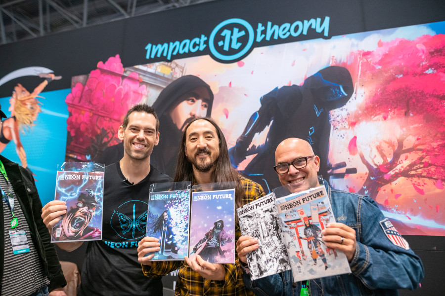 "Steve Aoki Talks Teaming With Tom Bilyeu For Empowering ""Neon Future"" Comic Series"
