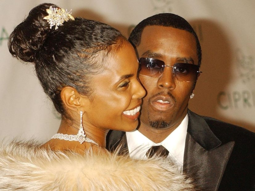Diddy Says Final Farewell To Kim Porter During The Funeral Of Georgia