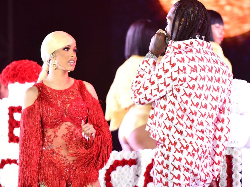 Cardi B Says Offset Has Picked Their Baby S Name: Cardi B Rushes To Offset's Defense Following Rolling Loud