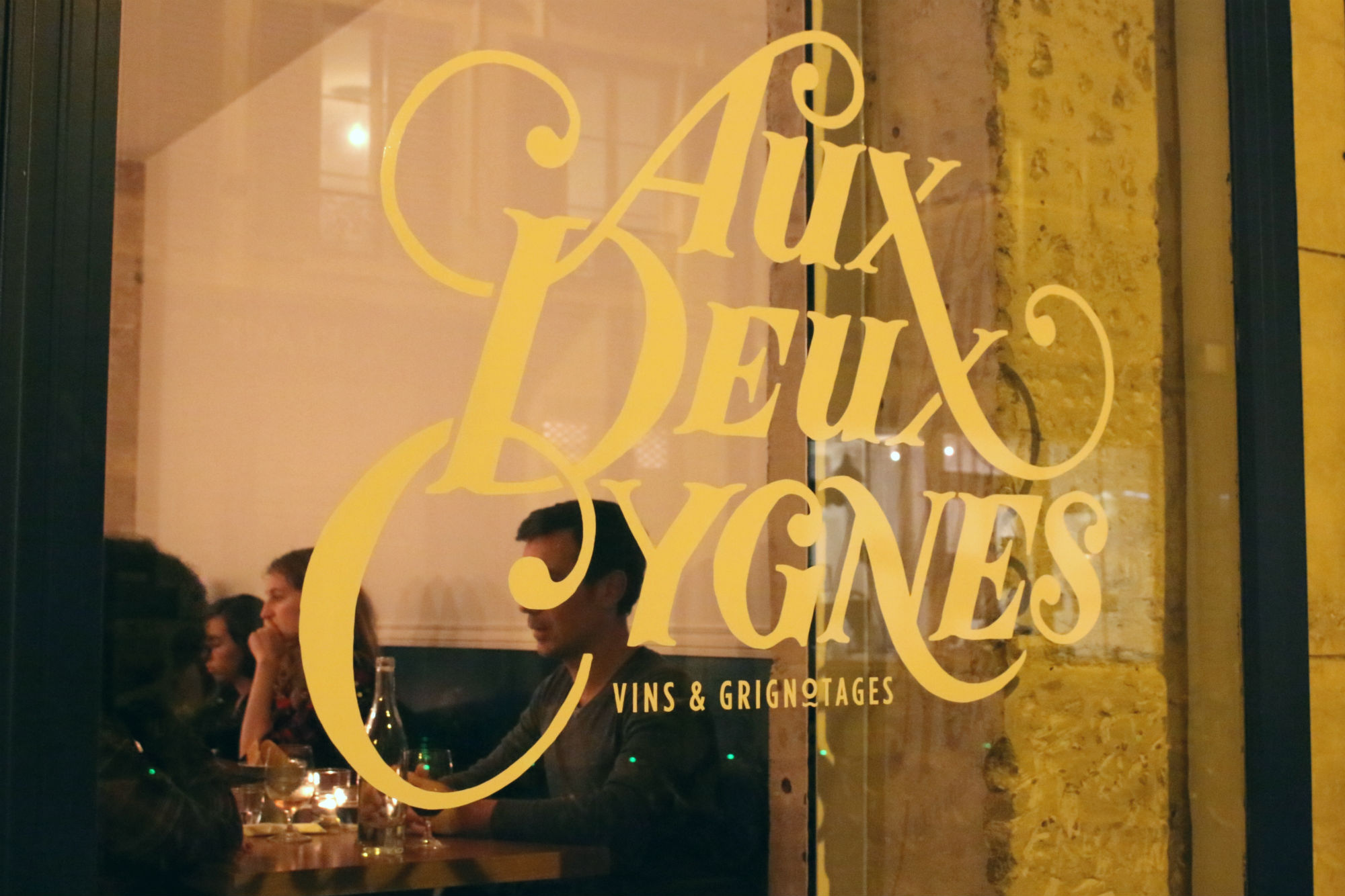 HiP Paris blog Aux Deux Cygnes front sign Emily Jackson