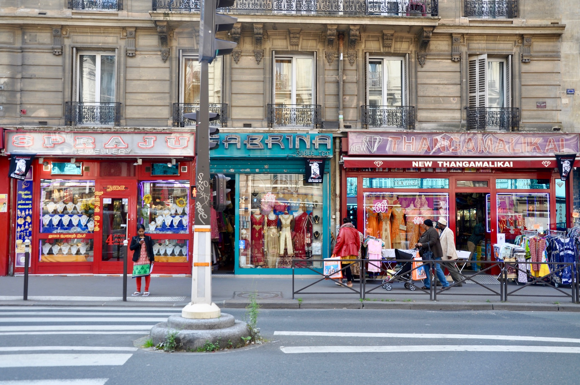 Visit Paris' Little India multicultural neighborhood with its saree shops, restaurants, supermarkets and jewelers.