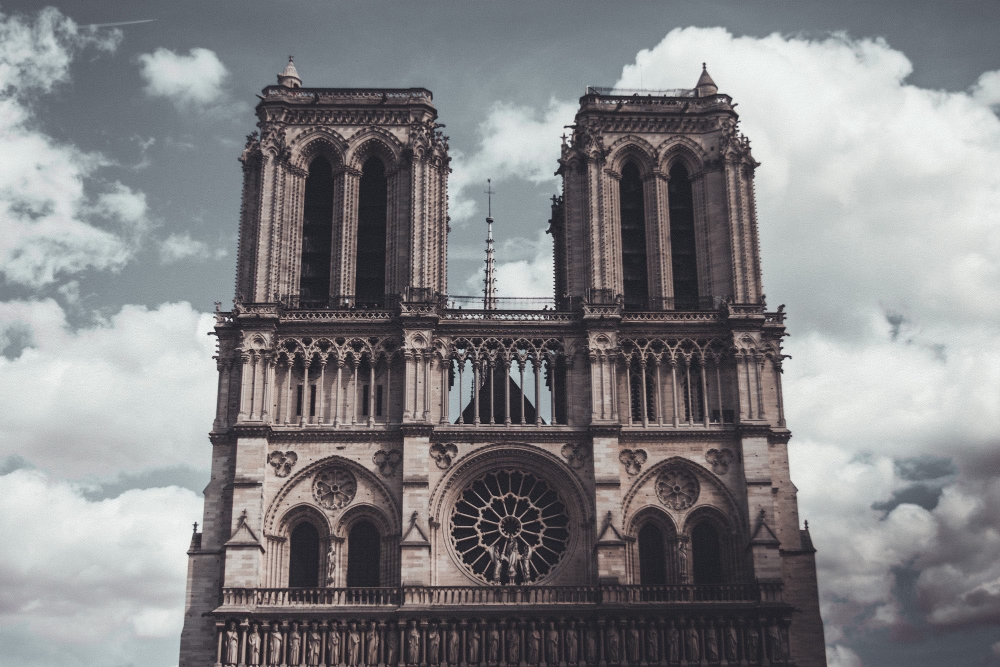 Notre Dame Cathedral in Paris is one of the most beautiful landmarks to visit in the city.