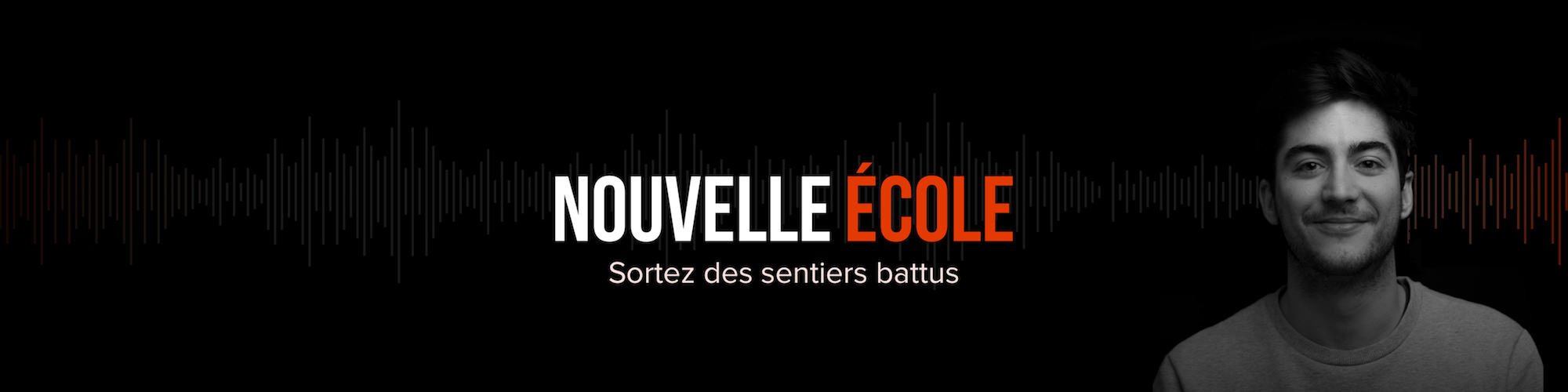 A banner-poster for French podcast you have to listen to, Nouvelle Ecole, which is all about getting and staying inspired.