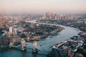 Paris or London? We love London's skyline, laid out along the Thames with Tower Bridge in the foreground.