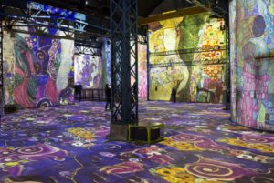 Digital Paris museum the Ateliers des Lumieres opened with a light and sound show of Gustav Klimt's work.