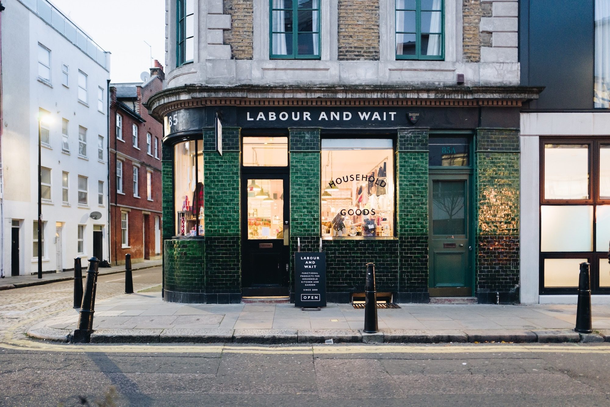 In East London, pubs have been converted into concept stores selling handmade goods like at Labour and Wait.