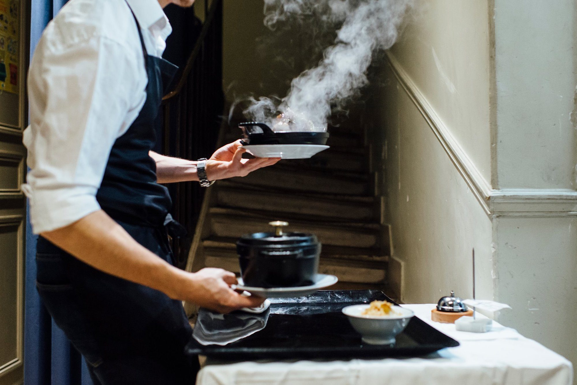 Chef Daniel Rose's Chez La Vieille restaurant near the Louvre in Chatelet serves steaming pots of French classics.