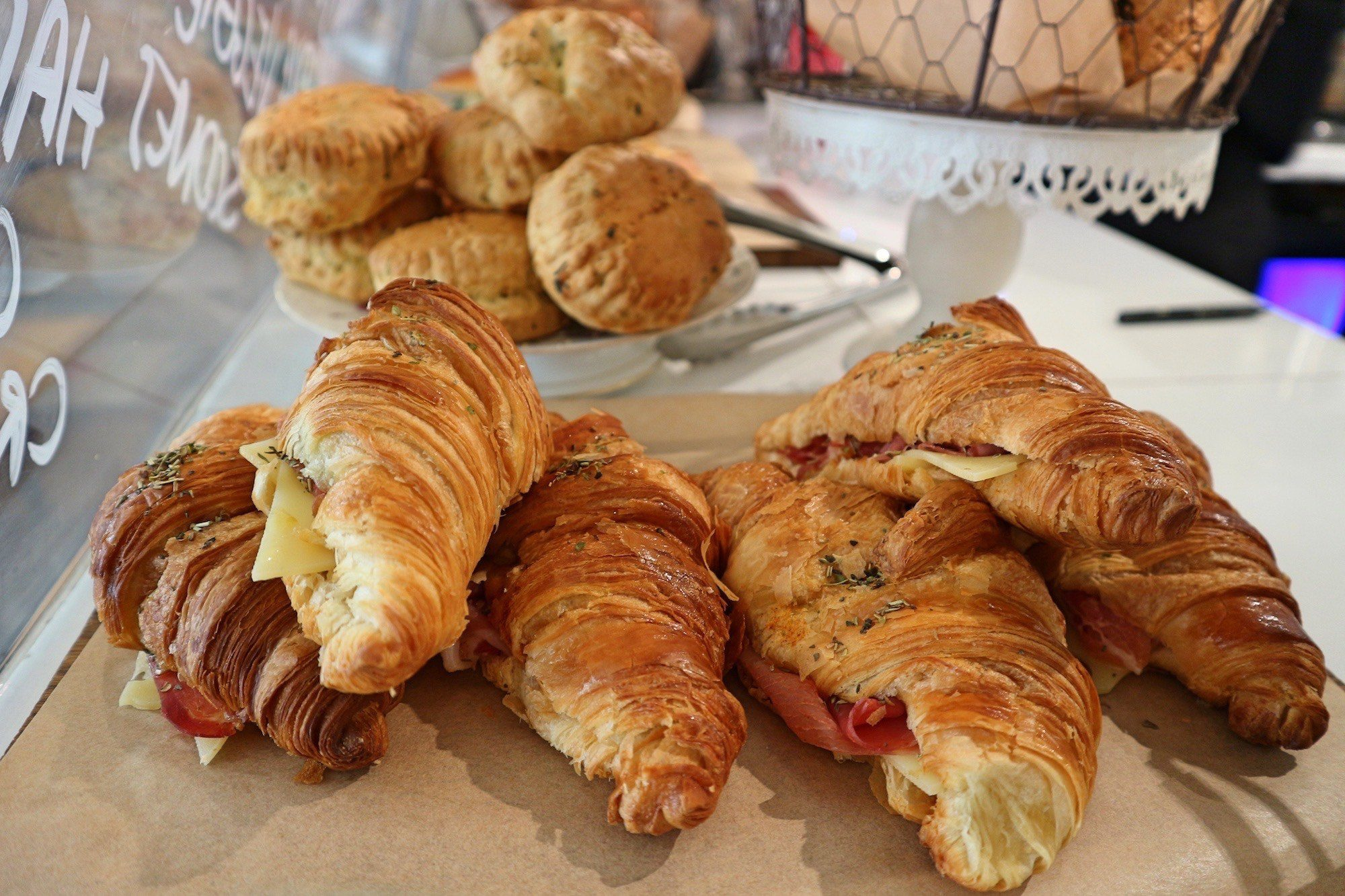 Baguett's Café is great for having brunch in Paris near the Palais Royal and serves tasty ham and cheese croissants.