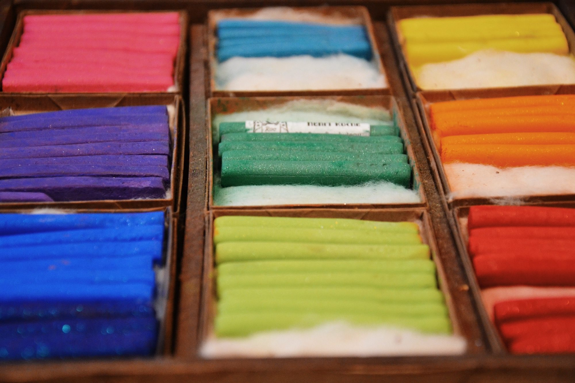 The historic Maison du Pastel shop is a feast of color in Paris and is a go-to for artists from all over the world.