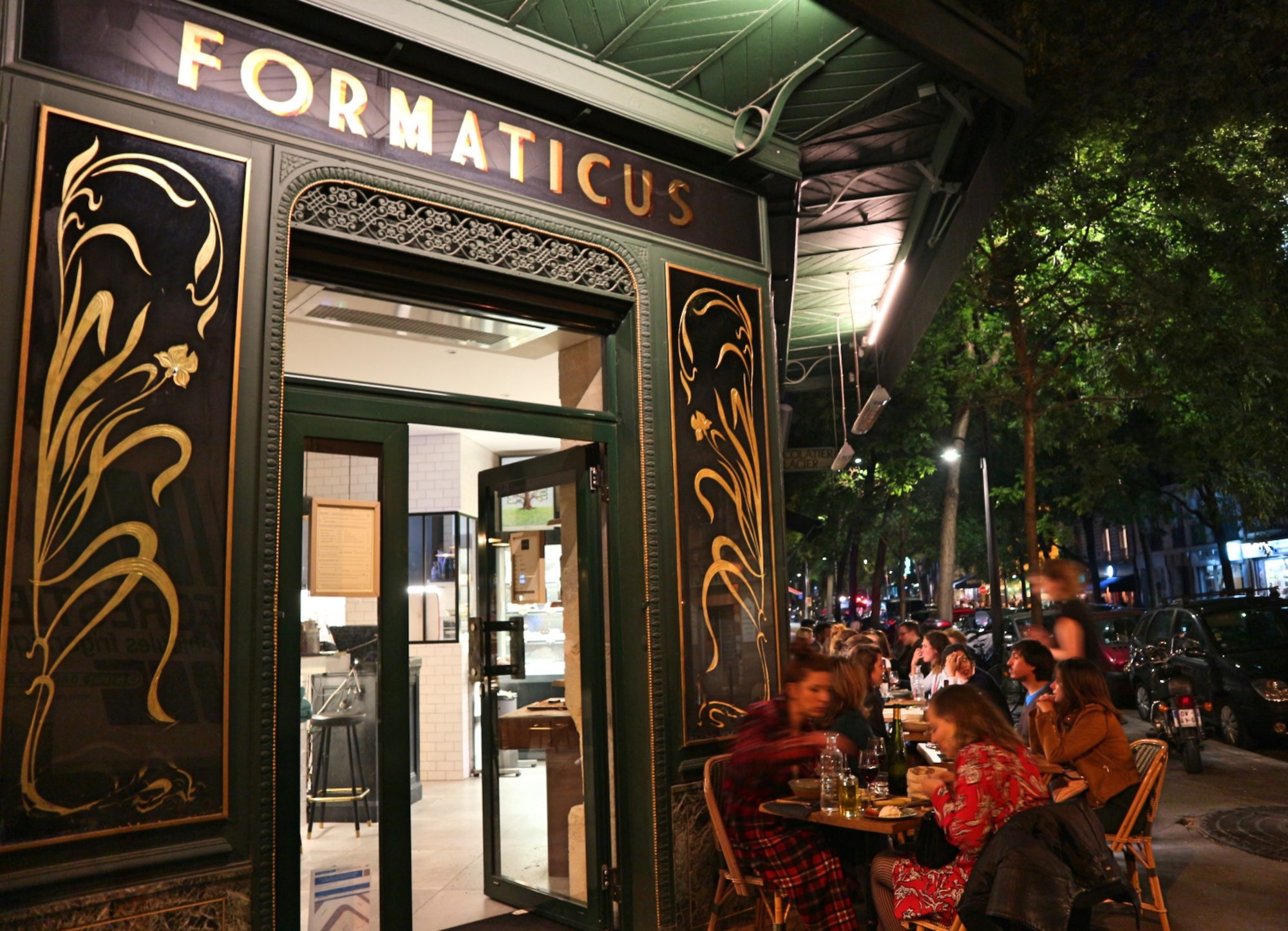Formaticus with its beautiful Art Nouveau exterior, is one of our favorite restaurants to eat French food in Paris' Batignolles neighborhood.