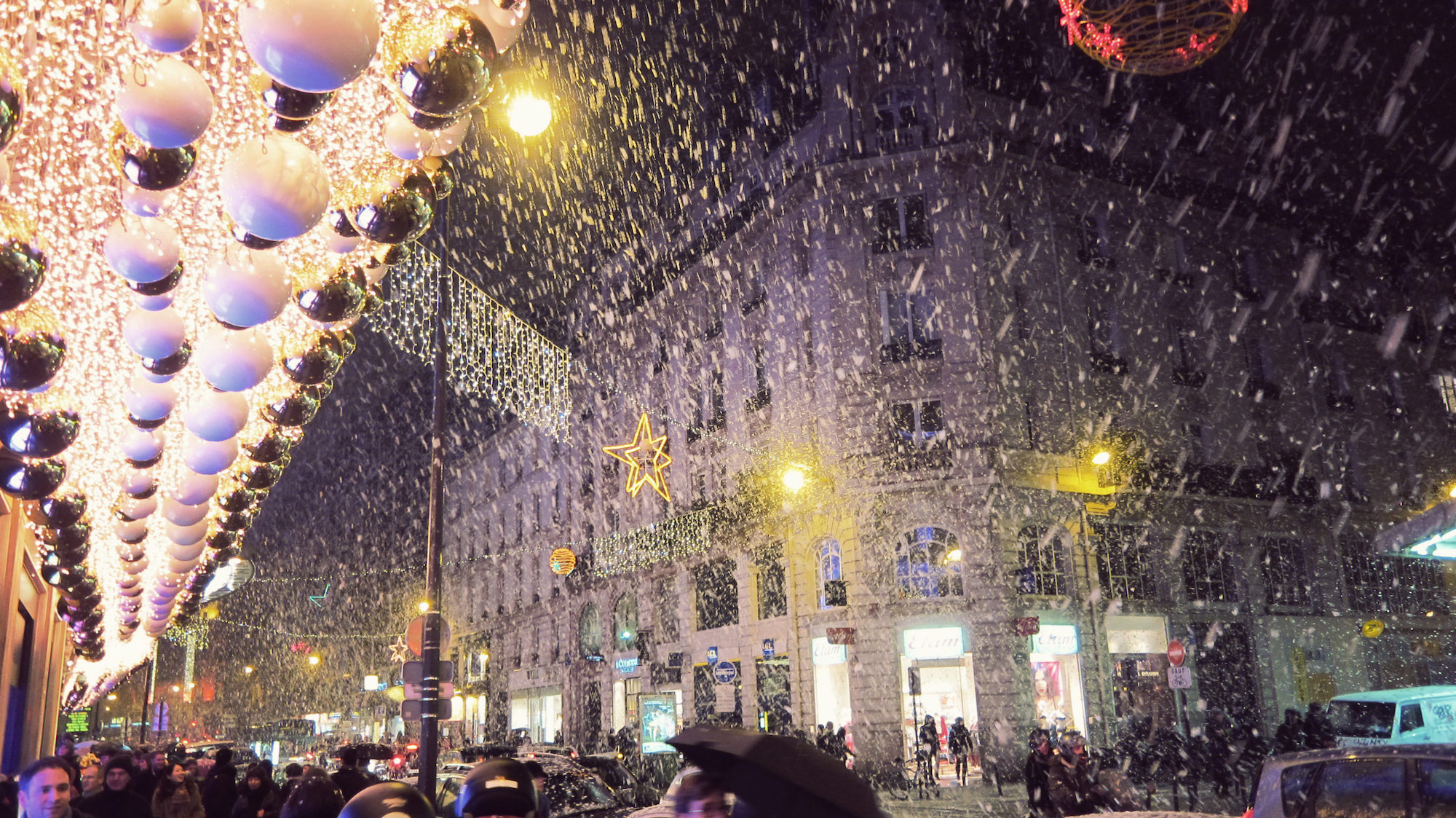 Winter in Paris is all about the Christmas lights and department stores' whimsical window displays.