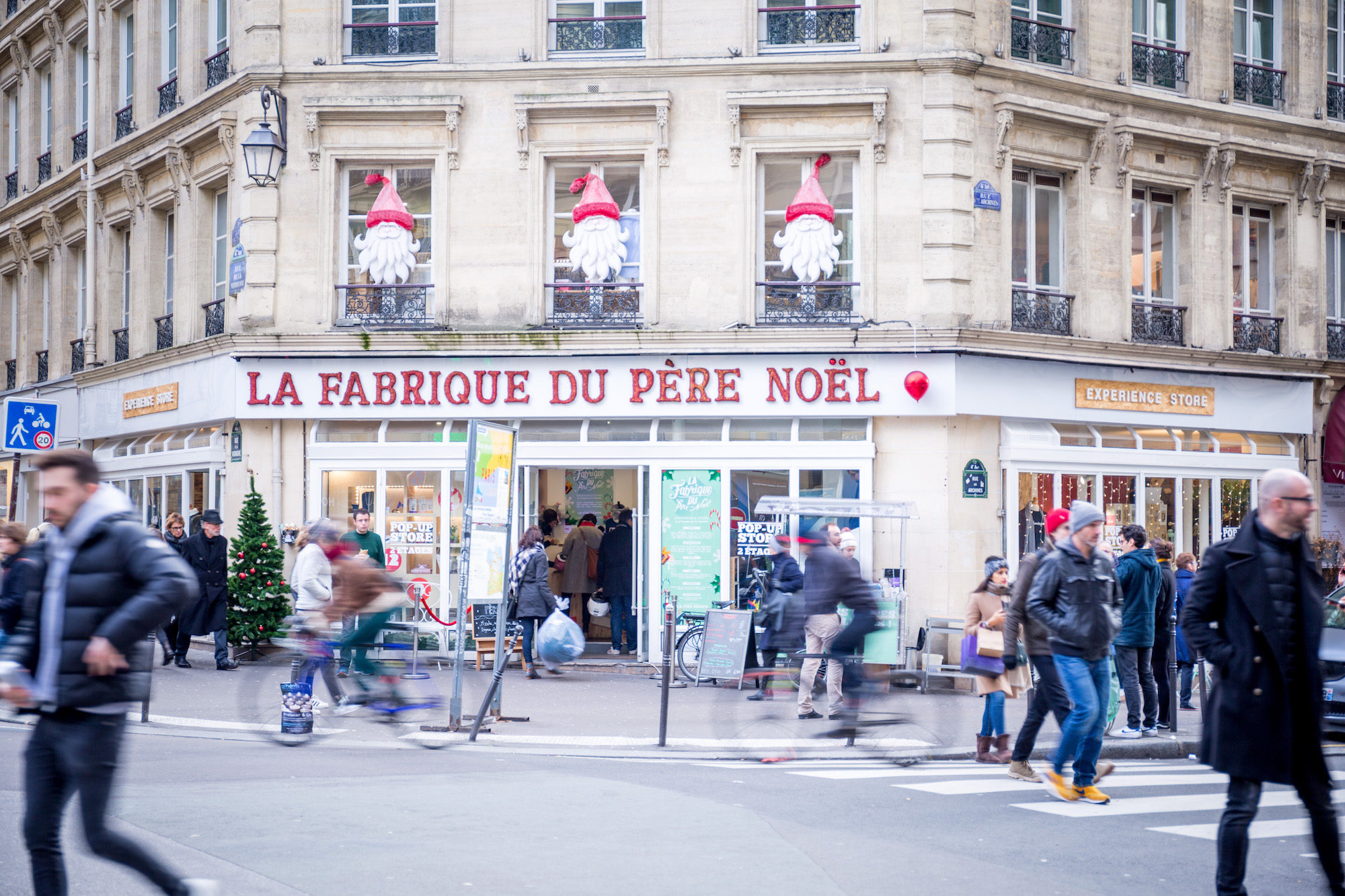 A go-to spot for Christmas shopping in Paris is giant pop-up store La Fabrique du Père Noel in the Marais neighborhood and 17th district.