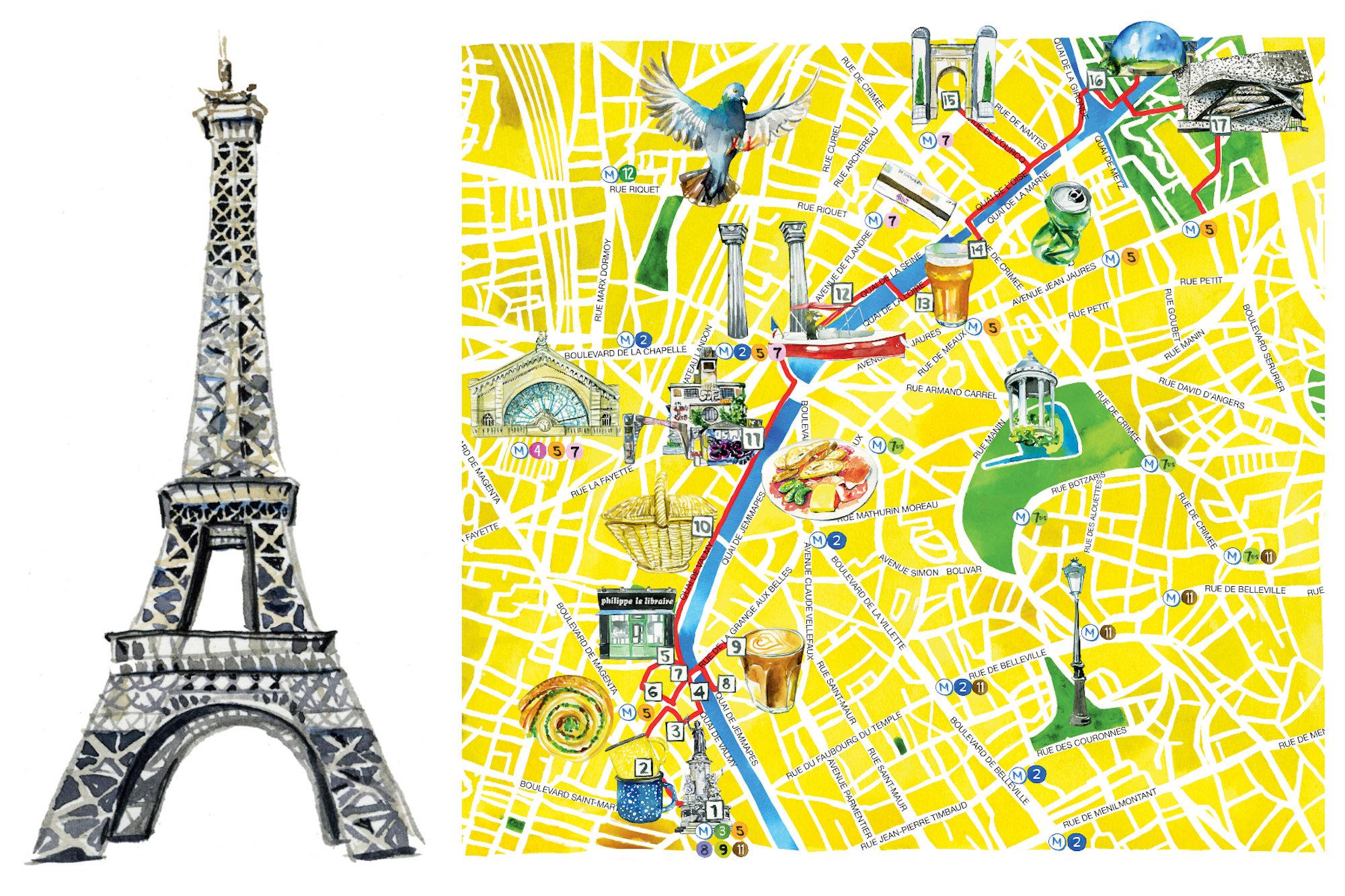 Jessie Kanelos Weiner Paris in Stride Illustrations