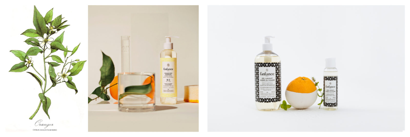 French beauty brand store in Paris, Oh My Cream! stocks organic Enfance products made with natural ingredients like zesty orange for the whole family.