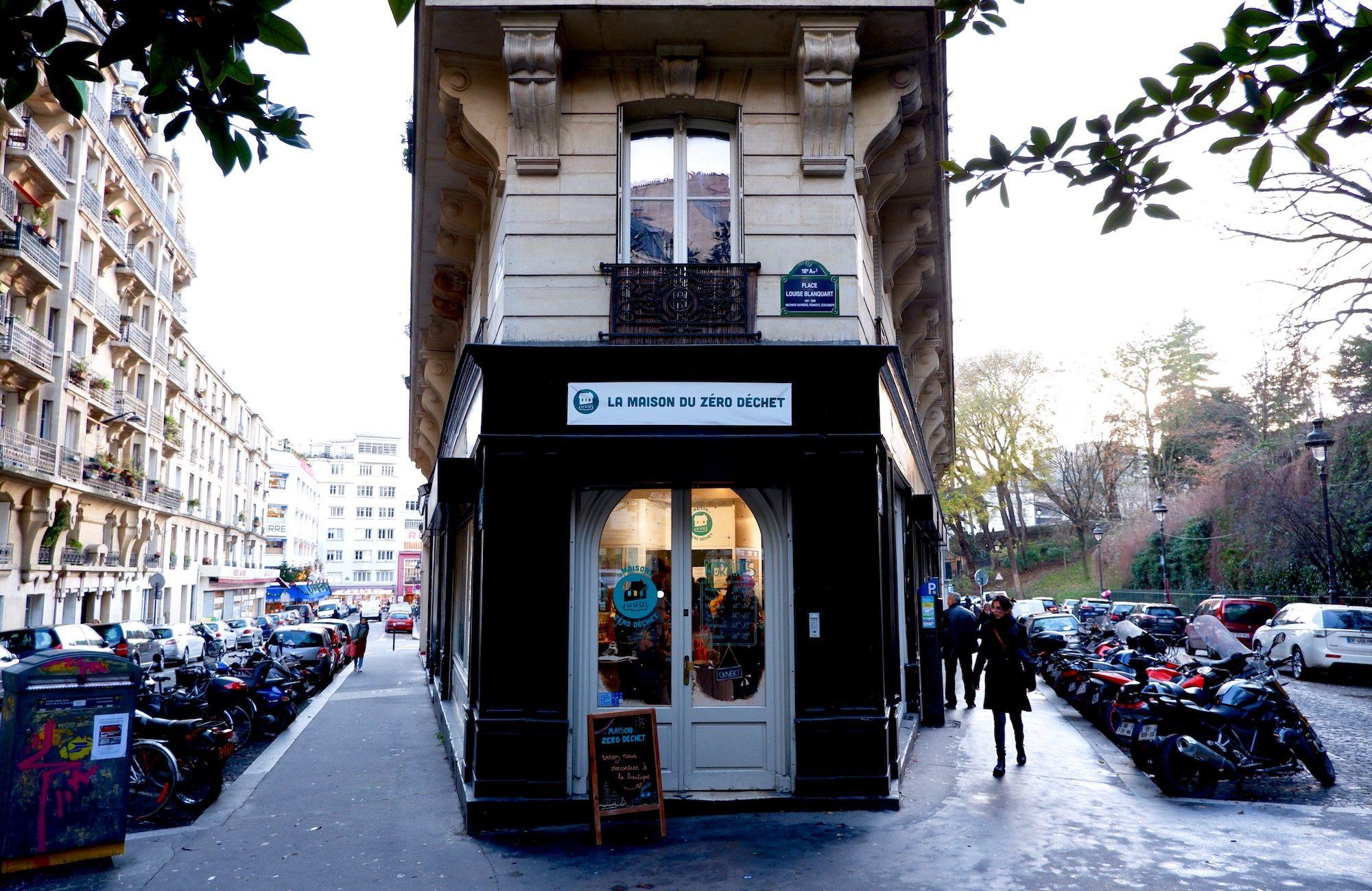 The Maison du Zero Dechet Paris lifestyle concept store facade.