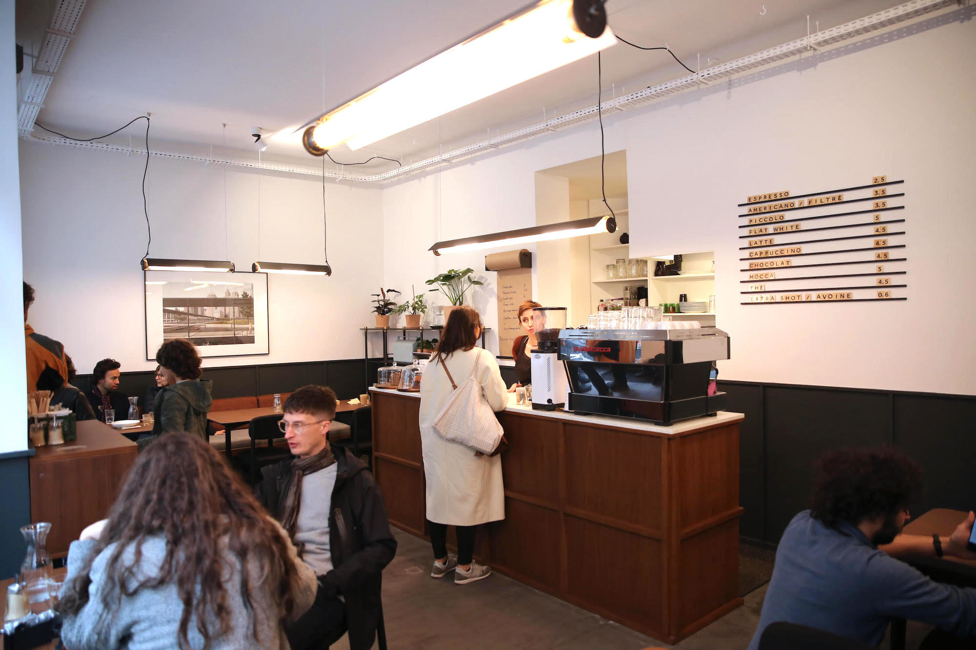 Inside the Residence Kann Coffee Shop by Canal St Martin in Paris