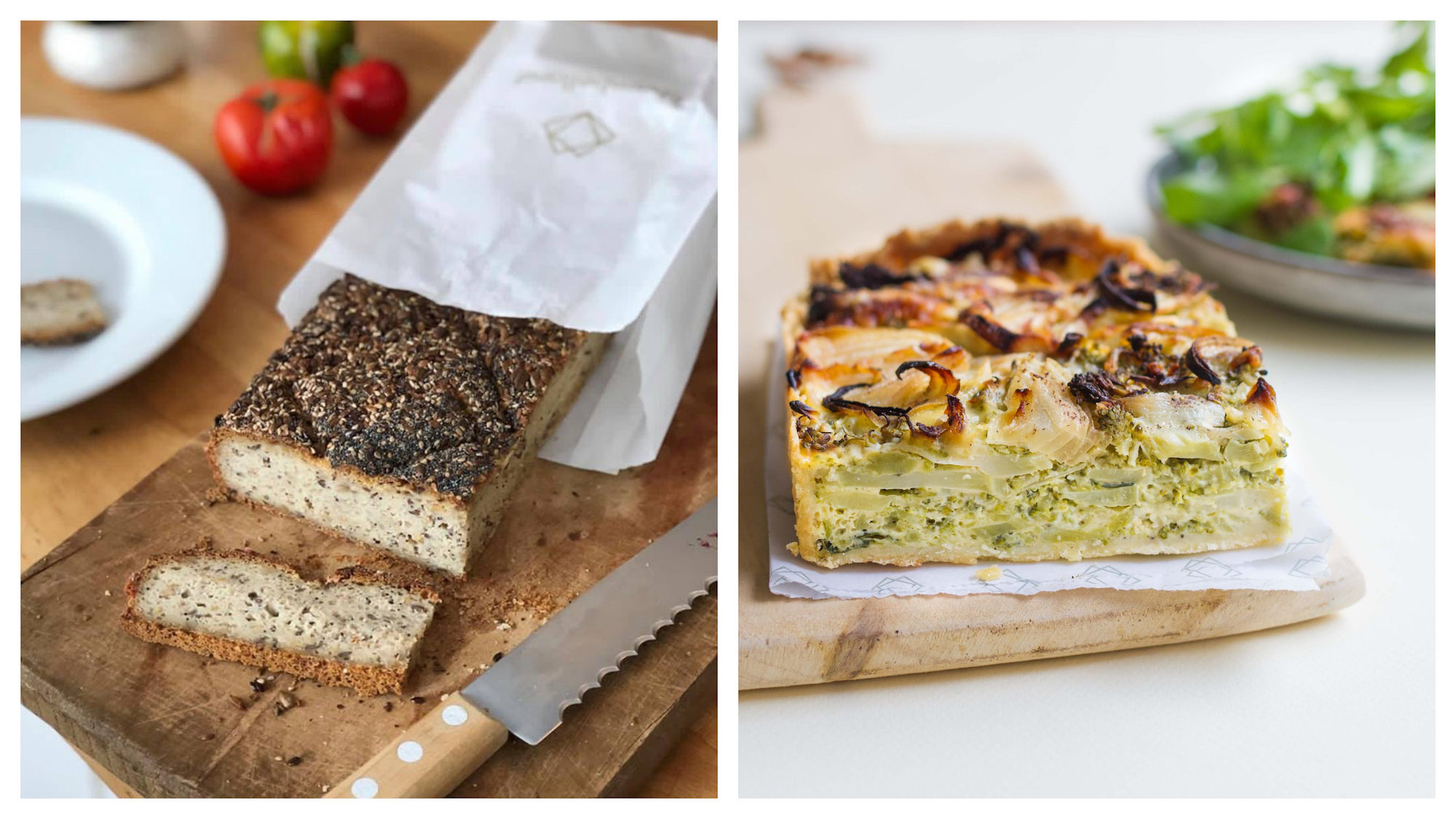 One of our favorite go-to spots in Paris for gluten-free bread and pastries is the Chambelland bakery in the 11th district, for its signature seeded breaded (left) and delicious gluten-free veggie quiche (right).