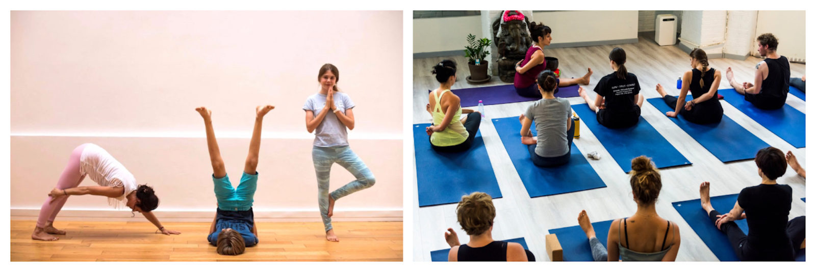 At kid-friendly Ashtanga Yoga studio in Paris, young yogis even have their own classes like these kids aged 6 to 11.
