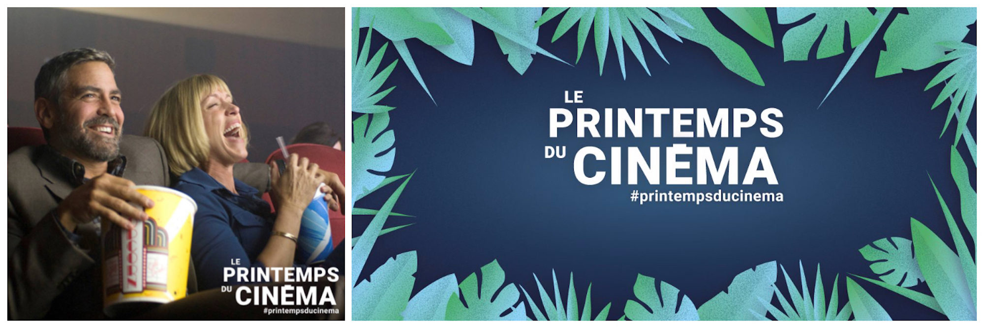 Posters for the Printemps du Cinéma film festival in Paris in March.