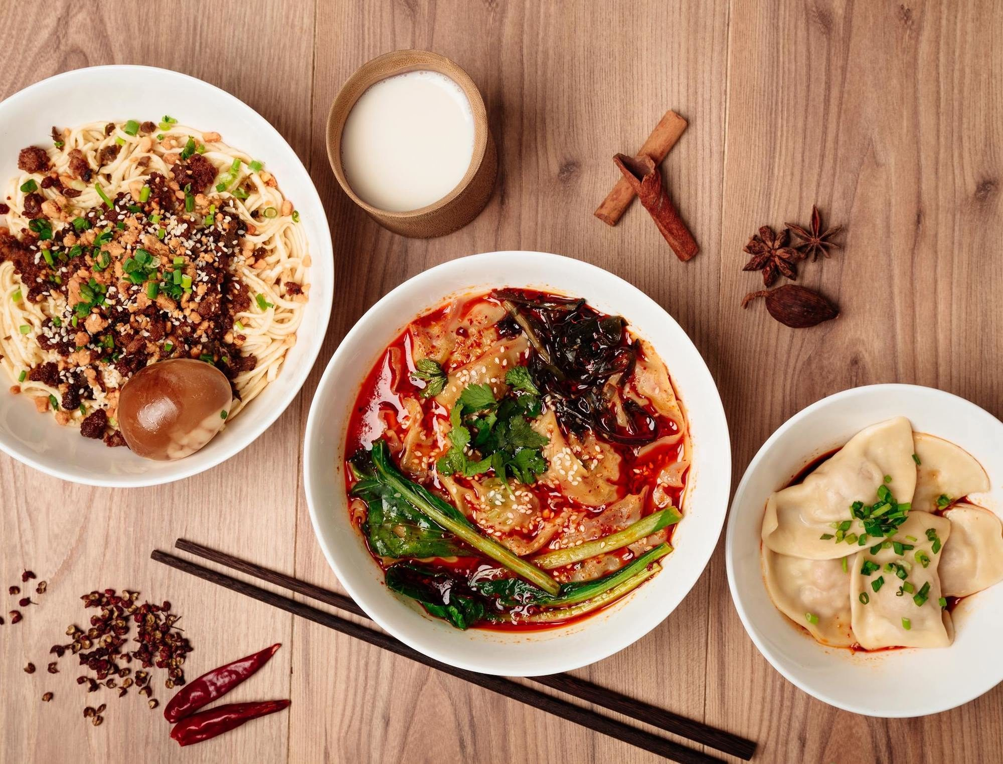 One of the best restaurants for authentic Chinese food in Paris' South Pigalle is L'Atelier Mala, and we love their generously served noodle soup bowls and raviolis.