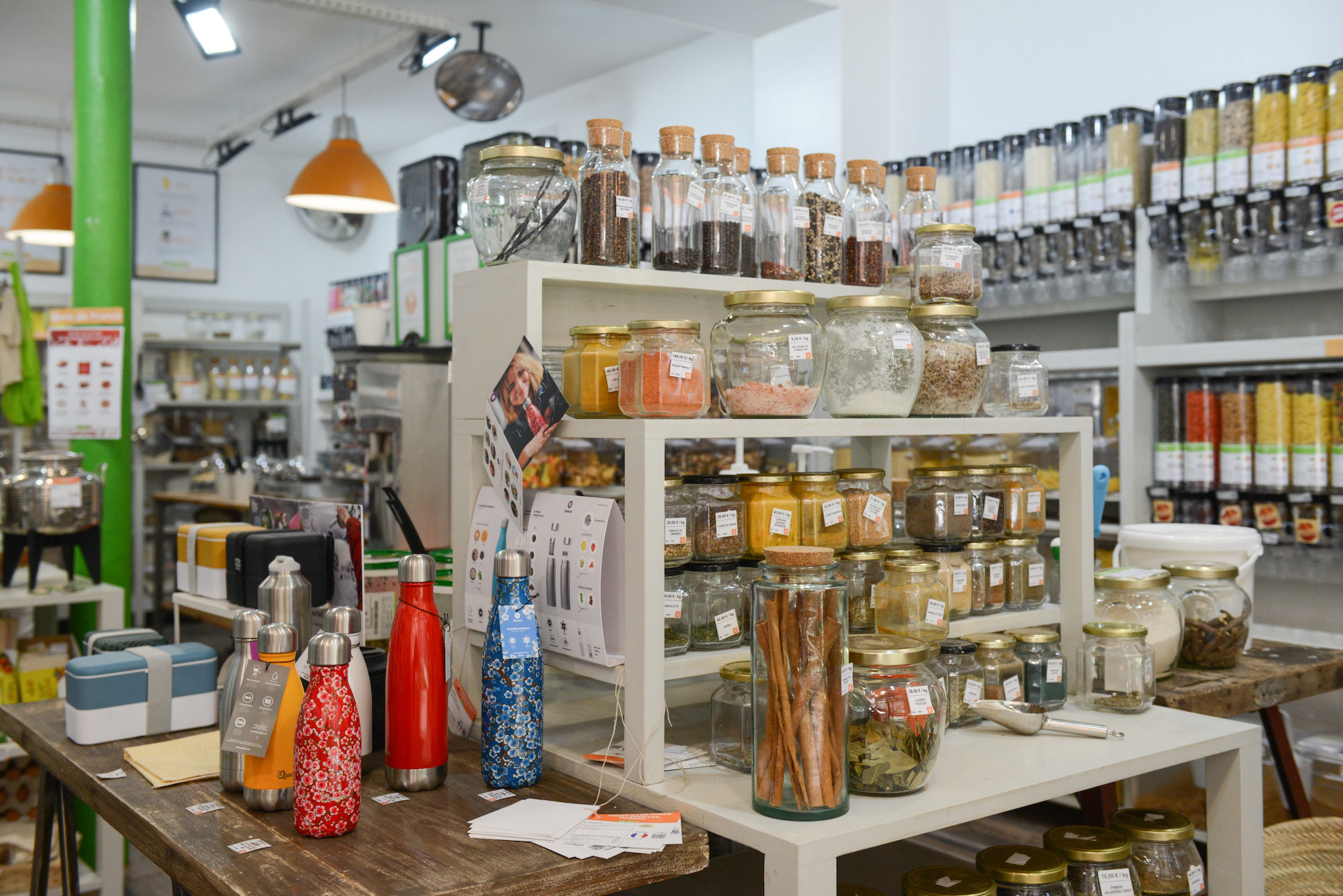For zero-waste shopping in Paris, head to Day by Day, a bulk-buying haven of package-free groceries.