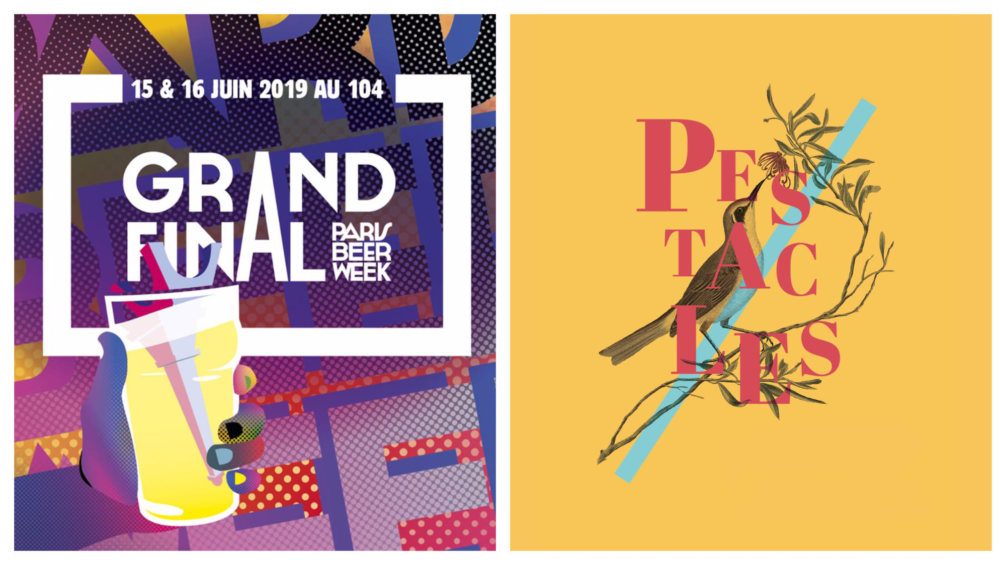 In Paris in June, events taking place include the Paris Beer Week (left) and the Pestacles theatre festival (right).