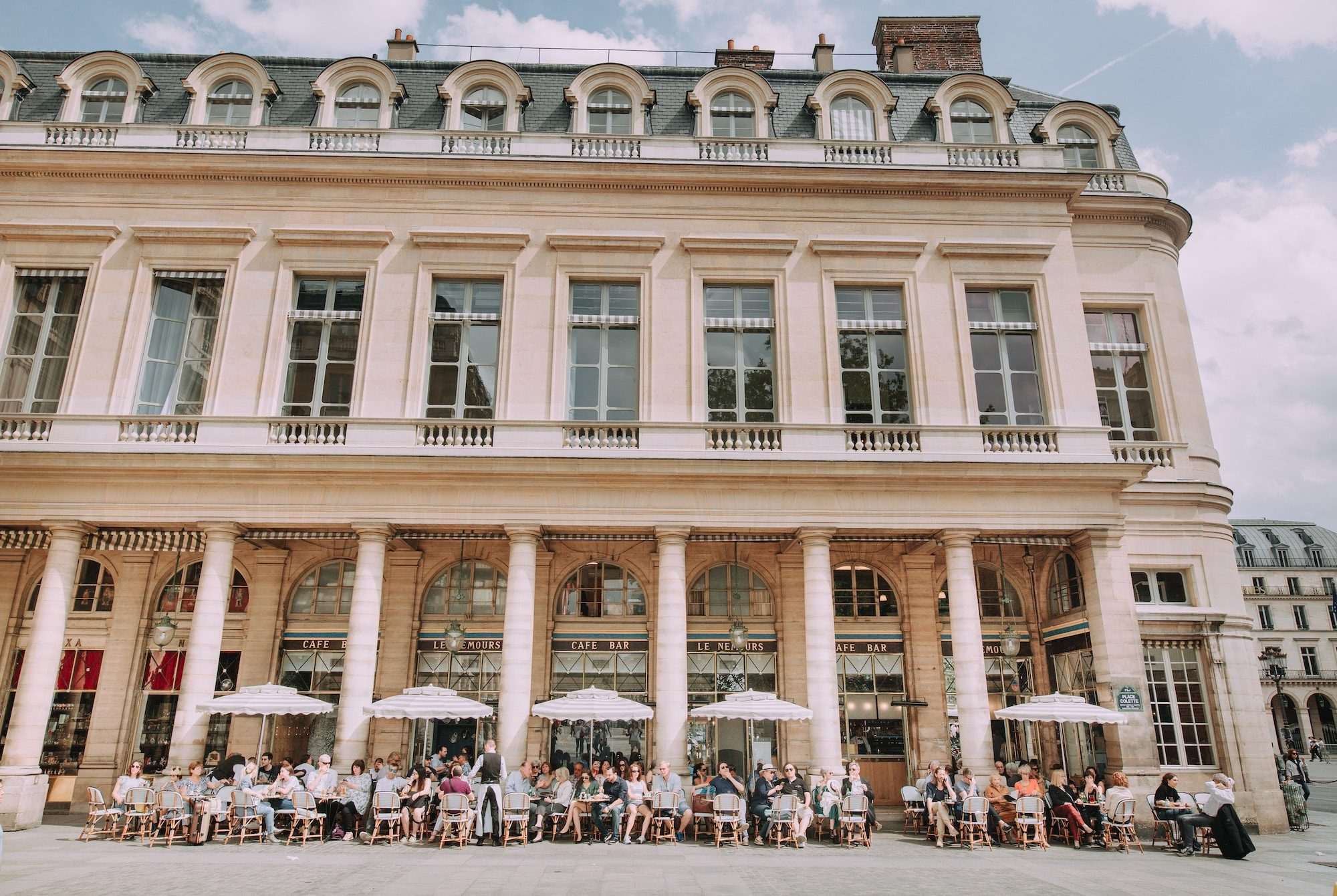 The Café Nemours in Paris, where Mr and Mrs Smith was filmed.