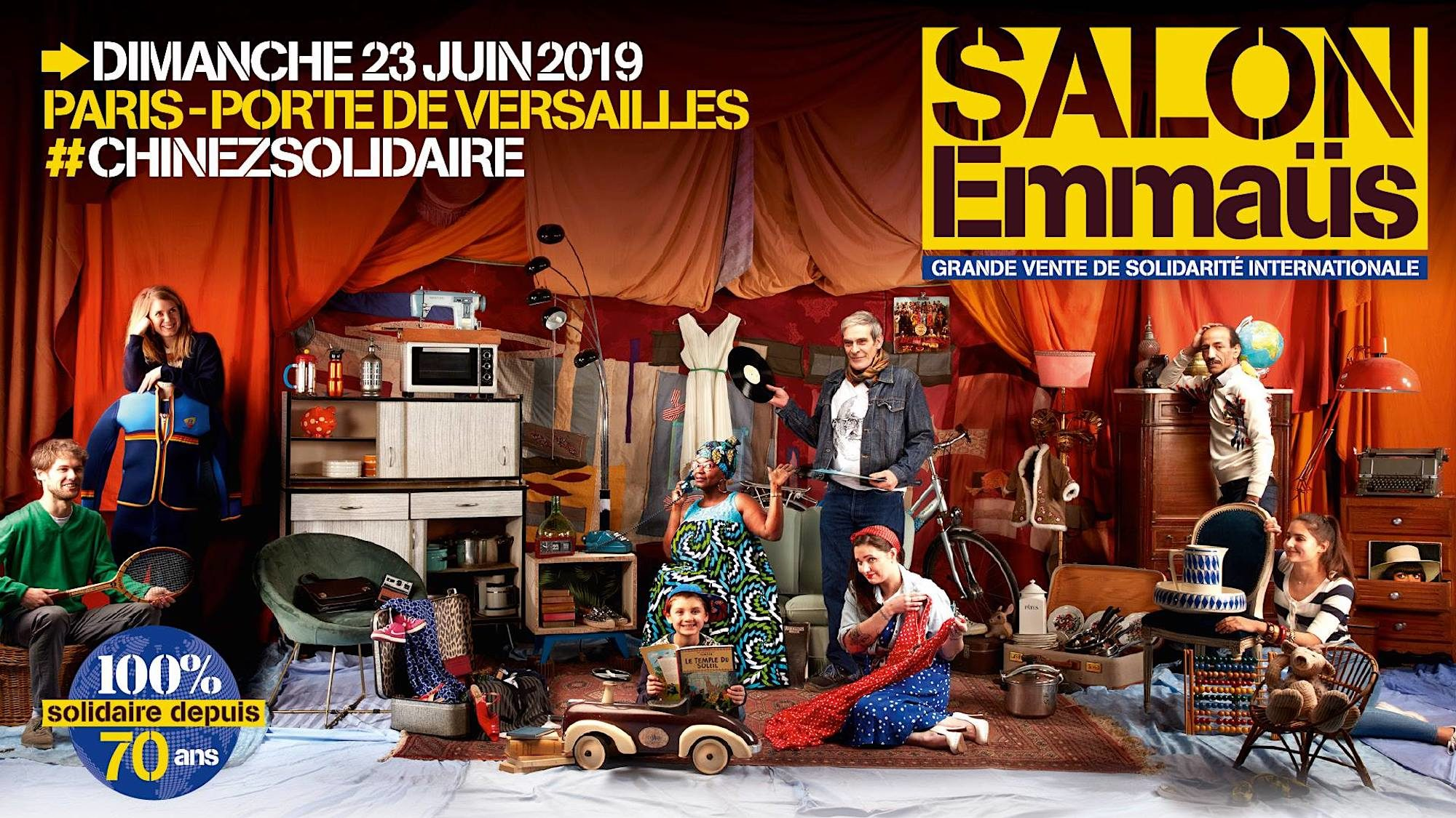 The Grande Vente Solidaire Emmaüs, a clothing, houseware and bric-à-brac sale takes place this month in Paris.
