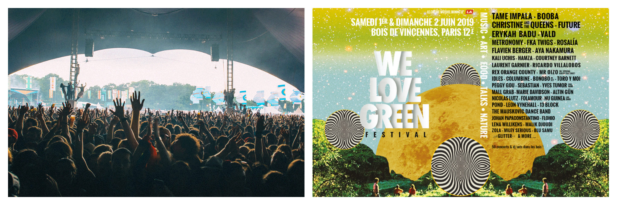We Love Green music festival takes places every June in Paris.