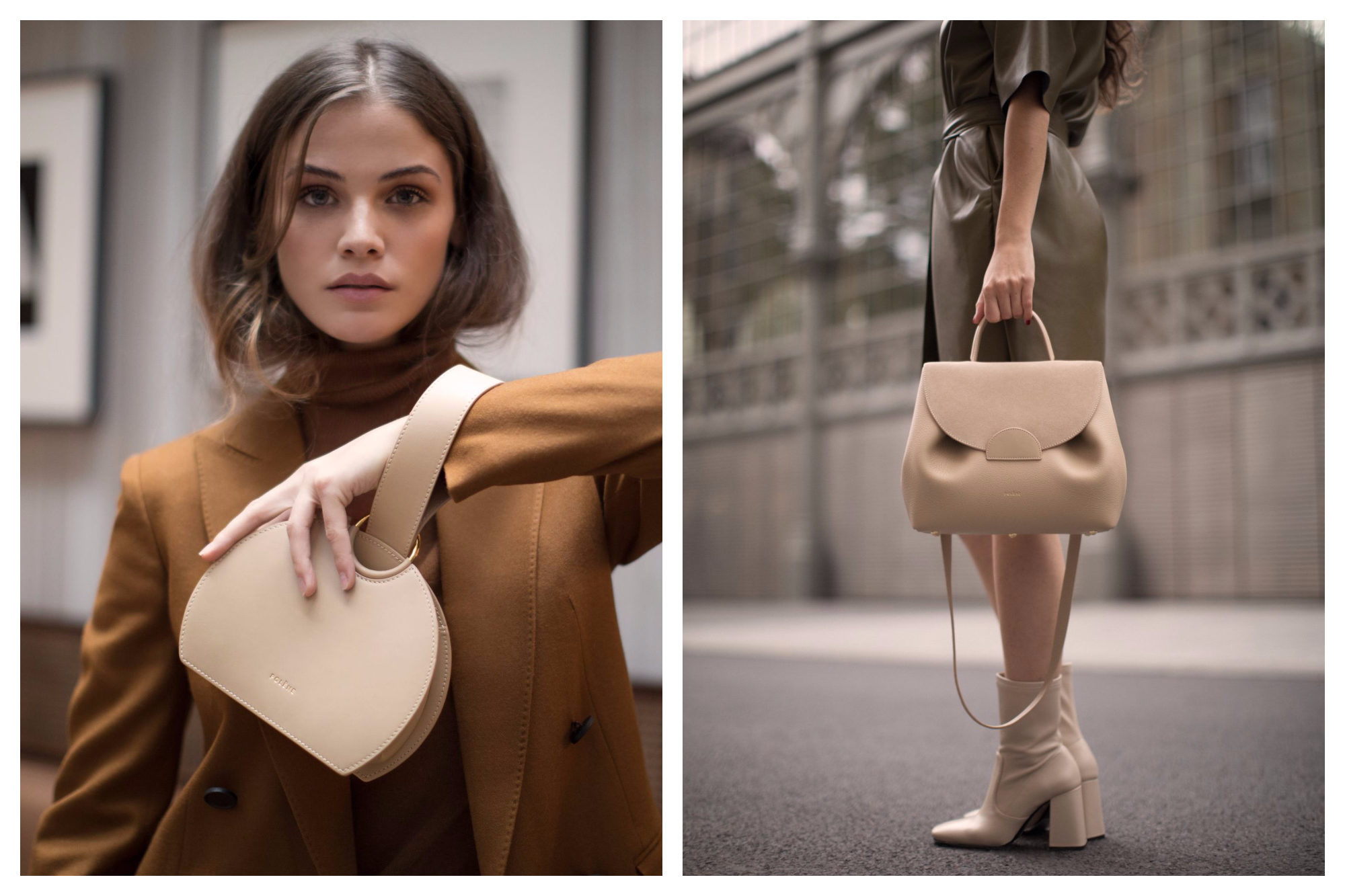 Parisian fashion style is all about the right bag, and the go-to brand for parisiennes is Polène. Its bags come in black and lighter colors, as featured here.