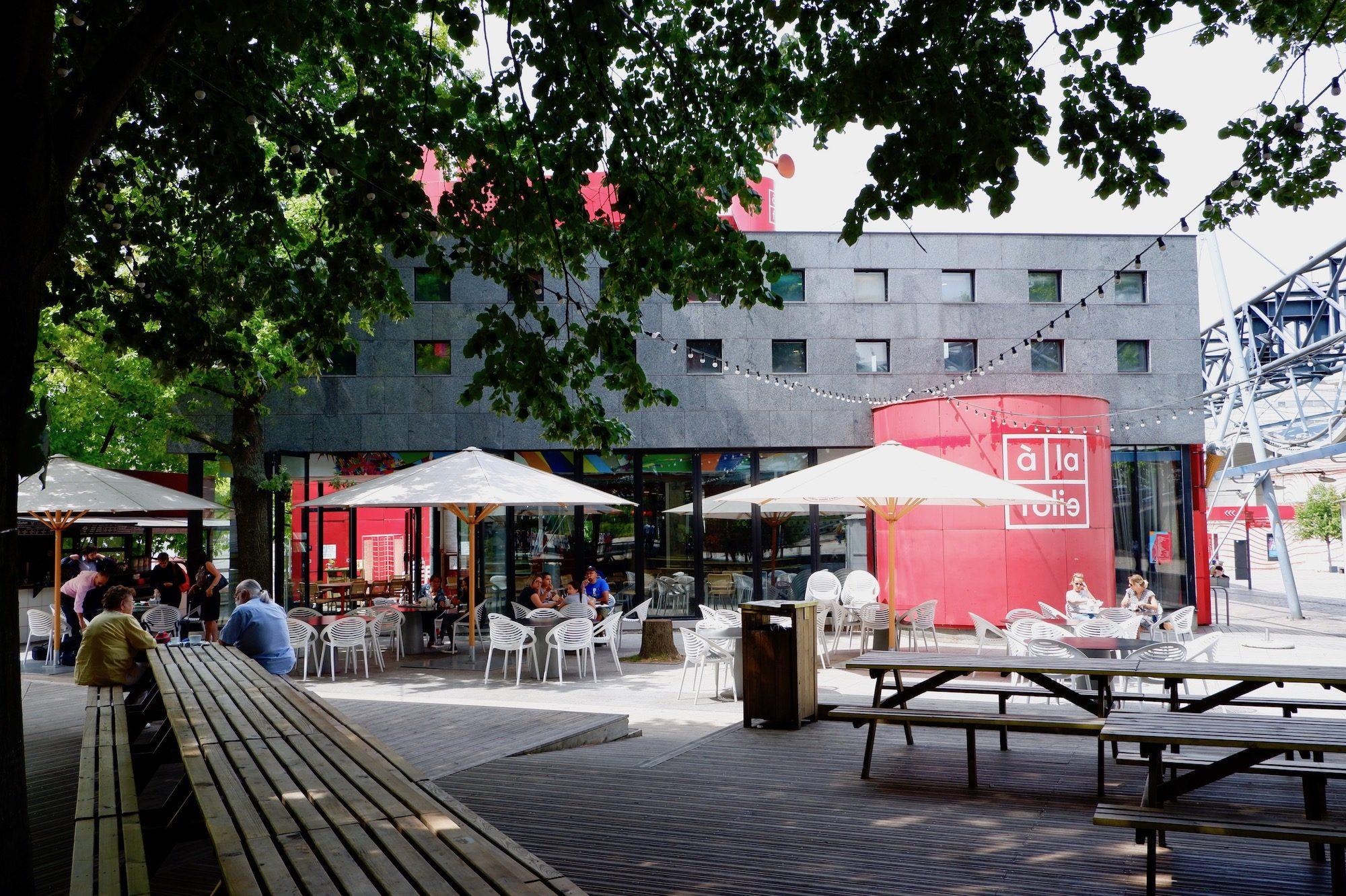 La Villette Park with its numerous bars and cultural venues just northwards along the canal de l'Ourcq.