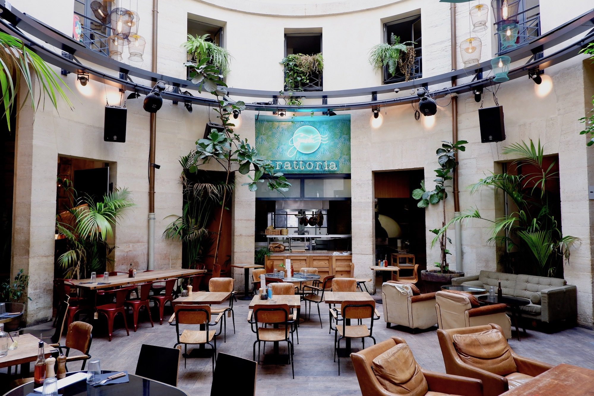 Inside La Rotonde bar, a popular bar close to the canal.
