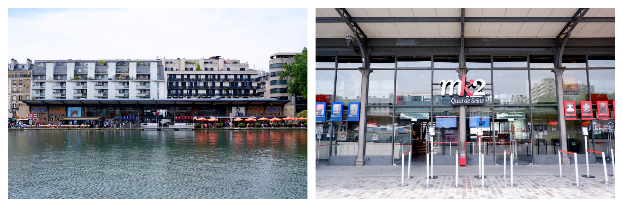 The MK2 cinema right on the canal was what started off the regeneration of the area some years ago.