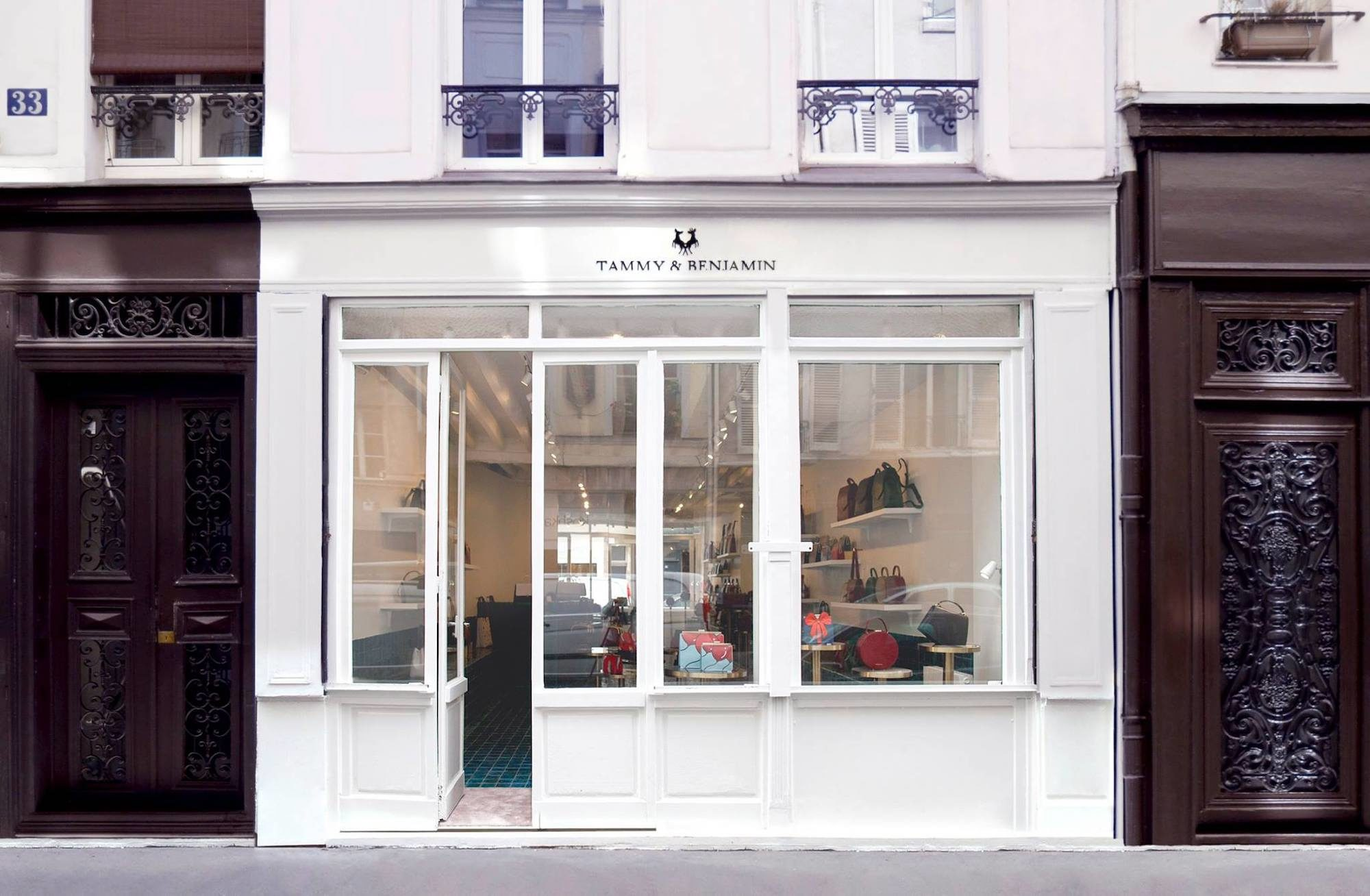 The exterior of the Tammy and Benjamin handbag store in Paris.