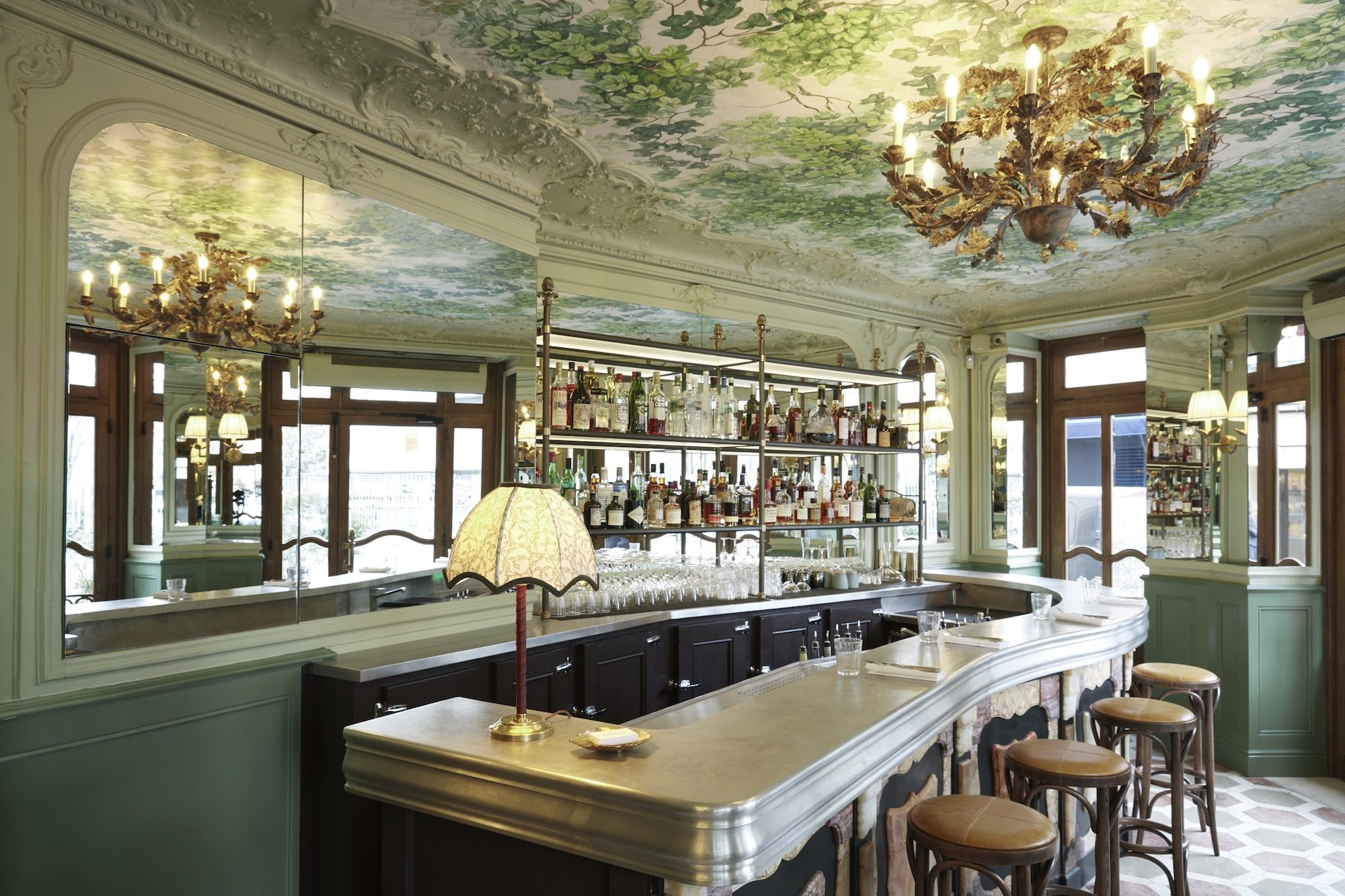 The magnificent Art Nouveau interiors of Le Chardenoux bistro in Paris 11.