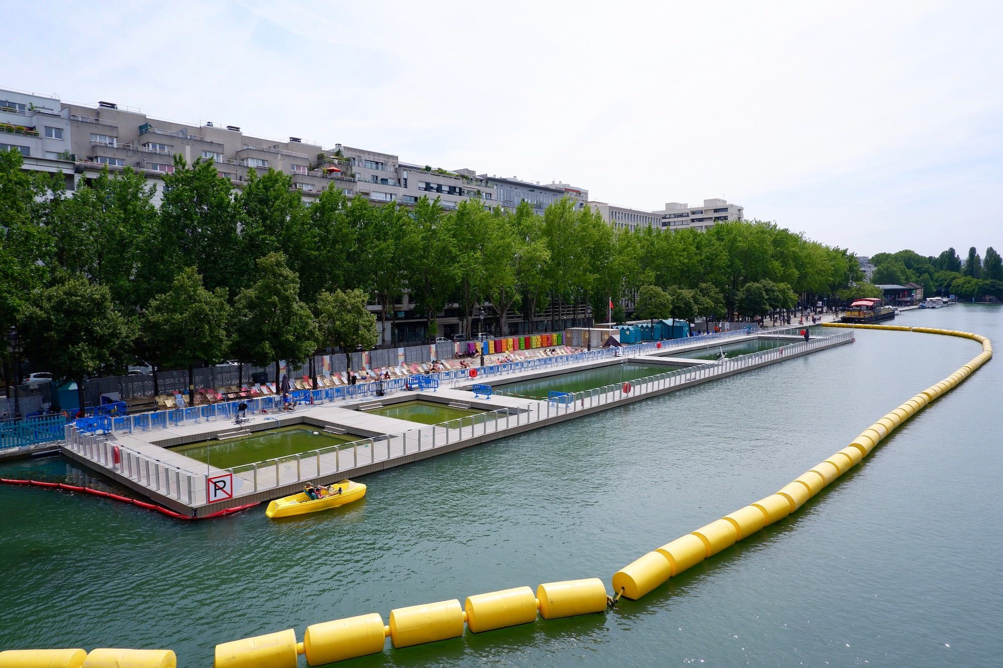 The swimming pool at the Canal de l'Ourcq in Paris