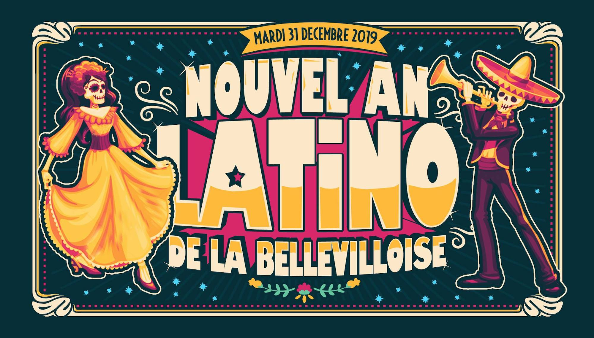 A poster promoting Nouvel An Latino de la Bellevilloise.